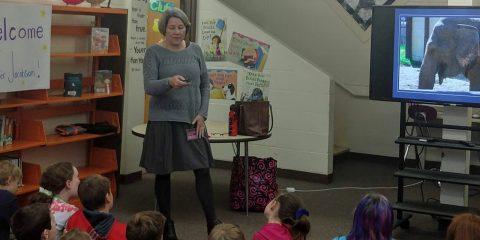BCS Students Meet Maine Author Jennifer Jacobson